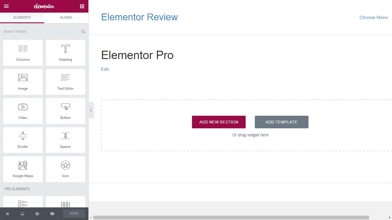 Elementor Pro Screenshot