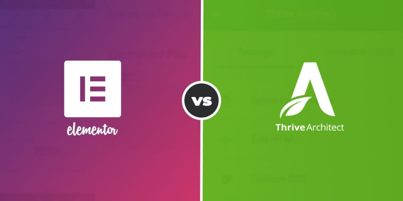Elementor vs Thrive