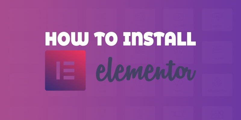 How to install elementor