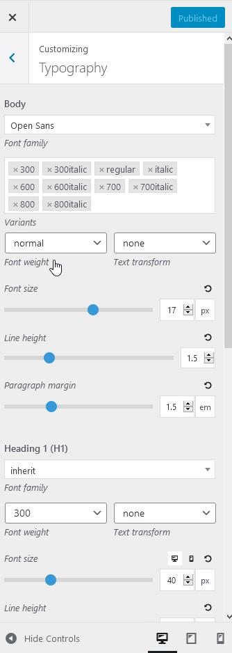 generatepress typography